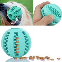 Plastic Dog Balls Australia - Pet Dog Toy Rubber Ball Toy Funning Light Green ABS Pet Toys Ball Dog Chew Toys Tooth Cleaning Balls of Food 7cm