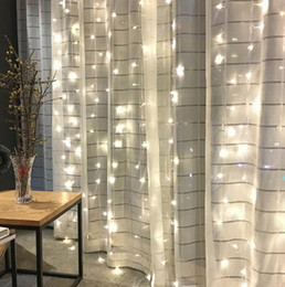 $enCountryForm.capitalKeyWord Australia - Waterfall Curtain Lights LED Icicle String Light Wedding Party Home Christmas Backdrops Decoration Copper Wire LED lamp beads