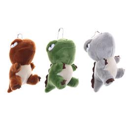 $enCountryForm.capitalKeyWord UK - Cute Dinosaur Plush Toys Bag Backpack Pendant Keychain Stuffed Animals Kids Toys for Children Birthday Gift Doll 10cm Whosesale