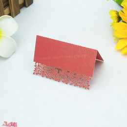 $enCountryForm.capitalKeyWord Australia - 100pcs Laser Cutting Vine Table Name Place Card For Party Wedding Event Lace Card Birthday Holiday Party Decoration 5ZZ30