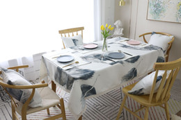 white feather home decor 2021 - European Style Table Cloth Newly Feather Designed in Striped Printed Water Proof Suraface Table Cloths for Home Decor Fr