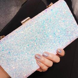 Ladies Evening Handbags Australia - Fashion Lady Shinning Glitter Women's Clutch Sequins Star Evening Pouch Shoulder Handbag Messenger Flap Party bags Purse BA149 D18110106
