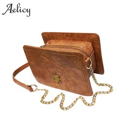 Aelicy Luxury High Quality Vintage Women s Fashion Chains Zipper Messenger  Bags Woman Designer Bags Solid Fake Designer Handbags 54813ec279d02