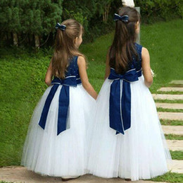beaded kids flower girl dresses NZ - Ball Gown long Flower Girl Dresses 2018 Beaded Pearls First Communion Dresses For Girls Pageant Dress