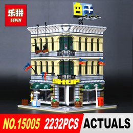 Grand models online shopping - LEPIN City Creator Grand Emporium Model Building Blocks Bricks action Brick for Children Toy Compatible with