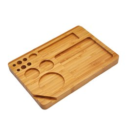 Roll cigaRs online shopping - 23 cm solid wooden cigarette tray cigar Smoking Storage Case dry Tobacco Rolling machine operating floor high quality