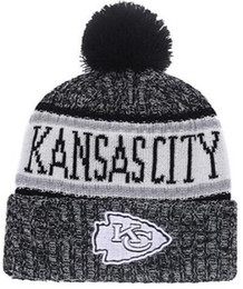 2019 American City All Team Kansas City Beanies KC Sports Pom Men Women  Sideline Cold Weather Reverse Knit Hat Official Graphite Black Cap 5090306bb