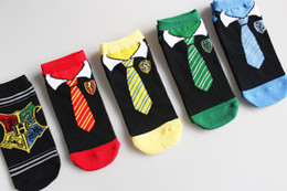 Funny Christmas Socks Canada - 2017 Kids socks new baby boy girl Summer children cotton stocks Harry Potter Socks Cosplay Low Cut Socks Cartoon Sock wholesales
