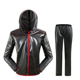 $enCountryForm.capitalKeyWord NZ - Waterproof Raincoat Outdoor Fashion Sports Raincoat Men for Women Grey Riding Motorcycle Rainwear Suit Adult Rain Jacket HW-SDD1