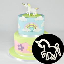 Sugar Cookies Cutter Australia - Plastic Horse Shape Mold Sugar Arts Set Fondant Cake Tools Cookie Cutters