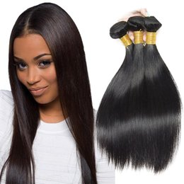 $enCountryForm.capitalKeyWord UK - Straight Hair Bundles Brazilian Virgin Straight Human Hair 3 Bundles 7A Grade 100% Unprocessed Remy Hair Bundles Natural Black Color