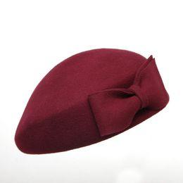 Women's Berets Generous 1 Pc Womens Girls Elegant Warm Beret Hat Flat Cap Winter Painter Streetwear Vintage High Quality Cotton Blend Beret Cap