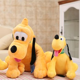 e452cdc10c8 Animals Stuffed Plush Animals Hot Sale 30cm Sitting Plush Pluto Dog Toy  Stuffed Animal Toy for Children Birthday Kids Gifts