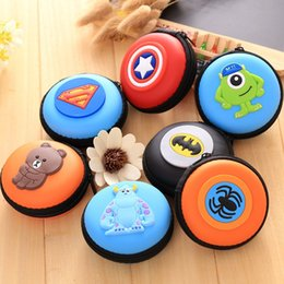 Iphone Organizer Case Australia - Cartoon Mini Zipper Protective Headphone Case Pouch Earphone Storage Bag Soft Headset Earbuds Box USB Cable Organizer Coin Purse