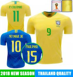 BRAZIL Soccer Jersey NEYMARJR top COUTINHO G.JESUS football T.SILVA DAVID  LUIZ FUTEBOL PELE MARCELO PAULINHO ALVES 726d65ab7