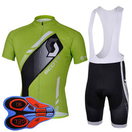 $enCountryForm.capitalKeyWord Australia - Scott team Cycling Short Sleeves jersey (bib) shorts sets Pro Team MTB bicycle Jersey breathable 9D bib shorts kits 92824J