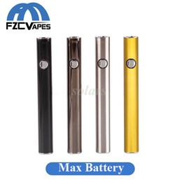 100% d'origine Amigo Max Preheat Battery Gold 380mAh 510 Fil Tension Variable Bas USB Charge Vape Batterie Stylo pour Liberty Cartouche
