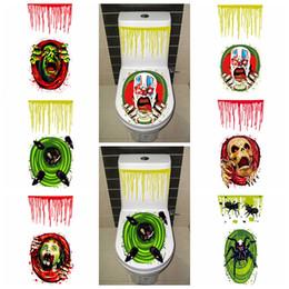 $enCountryForm.capitalKeyWord NZ - 6styles Halloween Toilet Seat Cover Stickers Closestool Scary Horror Skeleton Skull Clown Spider Party Home Decoration sticker FFA743 120pcs