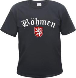 $enCountryForm.capitalKeyWord UK - BÖHMEN T-Shirt - Altdeutsch mit Wappen - Bohemia Böhmischer Löwe Böhmerwald Prag New Mens Spring Summer Dress Short Sleeve Casual