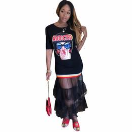 0f742ad25d10 Abiti in stile maglia online-2018 Abiti stile estivo Mesh Ruffles Mermaid  Print Fashion Donna