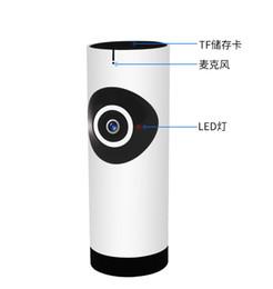 network ip camera wireless 2019 - 180 Degree Mini WiFi Panoramic IP Camera HD 720P Fisheye Micro SD Camera Wireless Network Audio Surveillance Night Visio