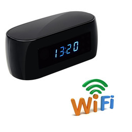 Surveillance wireleSS video recorderS online shopping - P2P P WiFi Camera Alarm Clock Nanny Wireless Security Surveillance Cam Video Recorder With Motion Detection Night Vision
