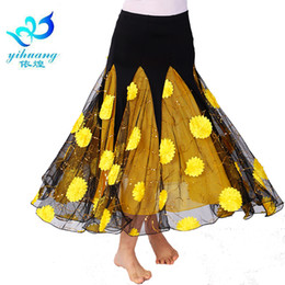 8ae465277 Ladies Ballroom Dance Costume Long Skirt Flamenco Performance Waltz Big  Swing Dress Modern Standard Dancewear Tango Skirt