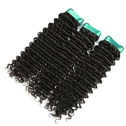 $enCountryForm.capitalKeyWord UK - The final discount Brazilian Deep Wave Virgin Hair Extensions 6a Black Color Unprocessed Double Weft 100% Human Hair Weave