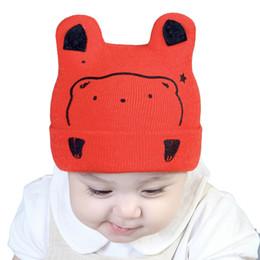 96fb72edaca Infant Kintting Hats Baby Girls Boys Bear Caps Kids Baby Bear Ear Baseball  Cap Cartoon Baby Boy Hats Toddler Accessories