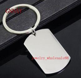 $enCountryForm.capitalKeyWord NZ - boys mens Jewelry Lot 5pcs in bulk Stainless Steel Army card Dog Tag Keychain Pendant accessories Key Chains Key rings