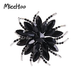 Wholesale whole saleAustrian Crystal Brooch Pins For Women Top Quality Flower Broches Jewelry Fashion Wedding Party Invitation Bijoux Broche Femme