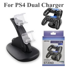 Station Wireless Controllers Australia - Dual Chargers For ps4 Xbox One Wireless Controller 2 USB LED Station Charging Dock Mount Stand Holder For PS4 Gamepad Playstation With Box