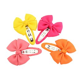 korean hairpins UK - Girls Cartoon Yama Candy Color Barrettes Grosgrain Korean BB Clip Bowknot Hair Clip Duck Clip Kids Barrettes H10