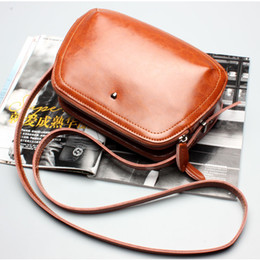 Blue Leather Bags Sale NZ - Hot Sale Brand Designer Women Bags High Quality Genuine Leather Shoulder Bags Spring Small Casual Messenger Bag Brown Blue Color