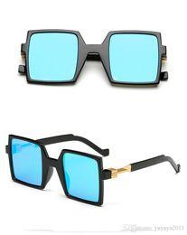 576c96e56a 2017 latest square sunglasses men high quality trend flat color retro  reflective fashion women sunglasses unisex travel glasses 92008