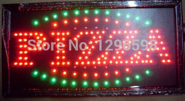 pizza signs NZ - 2017 Special Offer Hot Sale Graphics 15mm indoor Ultra Bright flashing 19X10 Inch PIZZA Business Shop Led open sign