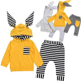 $enCountryForm.capitalKeyWord Australia - Newborn Baby Boy Girl Cute Ear Hooded T-shirt Tops+Pants Leggings Outfits Set Tracksuit Autumn New Arrival Warm Baby Clothes