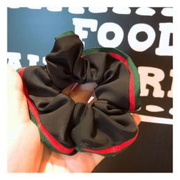 Nouveau Rouge Vert Stripe Ruban De Cheveux Élastique Marque Design Pony Tail Titulaire Marque Accessoire De Cheveux Expédition Rapide en Solde