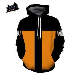 ACDBZ Nuevos Niños Anime Hooded Cool Naruto Uzumaki Naruto 3d sudadera Hoodies Hombres mujeres Fashion Street Jacket Hoodie Top en venta