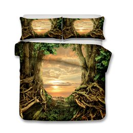 king size pillow cases Canada - 3D Art Bedding End of The Forest Bedding Set 3pcs Duvet Covers Pillow Case King Size All Size F