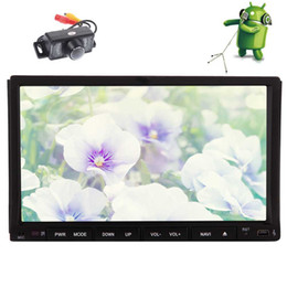 Auto Tv Player Australia - Backup Camera+Android 6.0 Car DVD Player 7'' Touchscreen Car Stereo GPS Navigation Double Din Auto Radio In Dash Bluetooth WiFi 1080p video