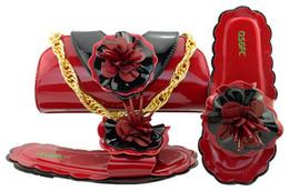 $enCountryForm.capitalKeyWord NZ - Most popular wine color low heel 0.5CM sandals with flower decoration african shoes match handbag set for dress MM1053
