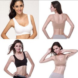 Discount strapless shapewear - Seamless Soft Bra Women Yoga Vest Sports Bra Crop Tops Underwear Strech Shapewear itness Yoga Running Vest OOA4754