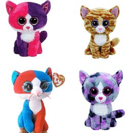 ce8f0efb80f Ty Beanie Boos Cat Plush Toy Doll Baby Girl Birthday Gift Stuffed Plush  Animals 15cm Big Eyes Stuffed Animals