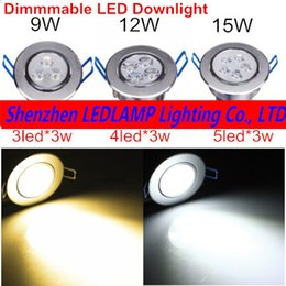 Aluminum Recessed Ceiling Lights Australia - 1PCS Dimmable LED Recessed Ceiling Light 9W 12W 15W Cabinet Wall Spot Down Lamp Cold White Warm White For Home Lighting