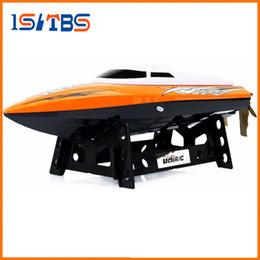 wholesale remote control boats 2020 - UDI 001 Mini RC Speedboat Tempo Power Venom 2.4G Remote Control Boat with Auto Rectifying Deviation Direction Function