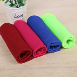 cooling towels NZ - Outdoor Cool Ice Sport Towel Cold Summer Bath Towels For Fitness Hip-hop Yoga Swimming Travel Gym Towel