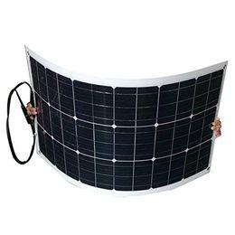 2x 100W 18V Monokristallin Solarpanel 12V biegsamen flexiblen Solar-Ladegerät mit MC4 für RV, Boot, Kabine, Zelt, Auto, Anhänger, 12V Batterie