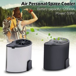 Portable Air Cooling Fan Australia - Mini Portable Waist Fan USB Rechargeable Cool Air Hand Held Travel Blower Cooler