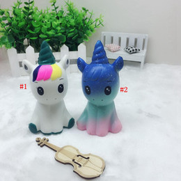 horse novelty gifts 2020 - Galaxy Unicorn Squishy Horse Slow Rising Squeeze Jumbo Phone Charms Soft Decompression Toys Kids Gift Novelty Items